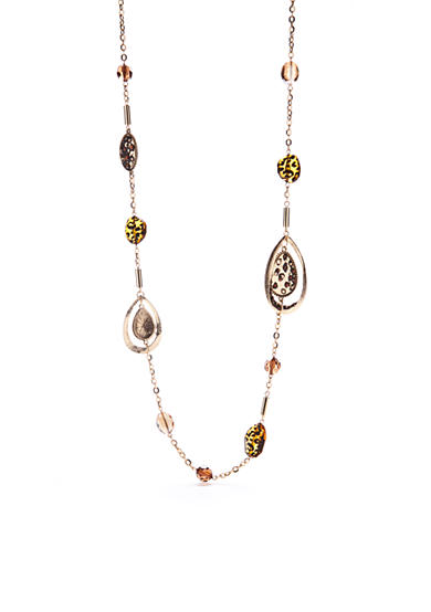 New Directions® Gold-Tone Wild Poetry Station Necklace
