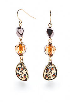 New Directions® Gold-Tone Wild Poetry Triple Drop Earrings