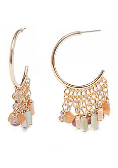 New Directions Gold-Tone Festival C Hoop Earrings