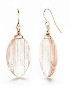 New Directions Gold-Tone Festival Glitter Drop Earrings