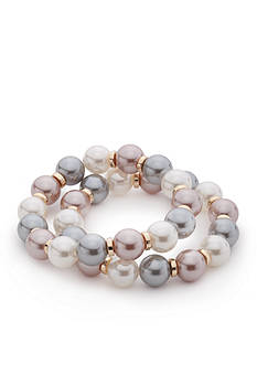 New Directions Gold-Tone Marvelous Pearl Stretch Bracelet Set