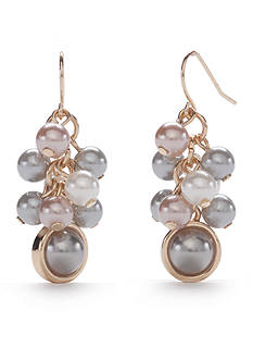 New Directions Gold-Tone Marvelous Pearl Drop Earrings