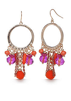 New Directions® Gold-Tone Tropic Girl Gypsy Hoop Earrings