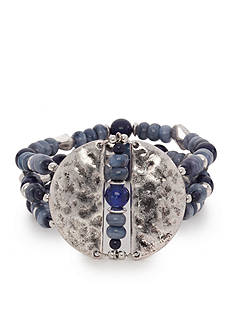 New Directions® Silver-Tone Urban Cowgirl Stretch Bracelet