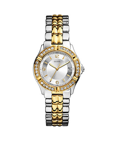 GUESS® Women's Mid-Size Two Tone Steel Bracelet Watch