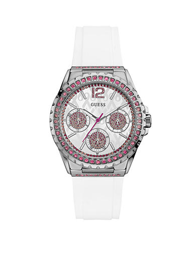 GUESS® Sterling Silver Guess 2016 Sparkling Pink  Watch