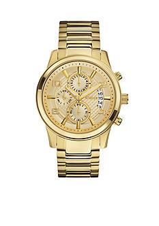 GUESS Men's Gold-Tone Dress Chronograph Watch