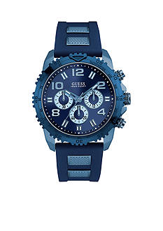 GUESS Stainless Steel Blue and Sky Blue Ionic Plated Chronograph Watch