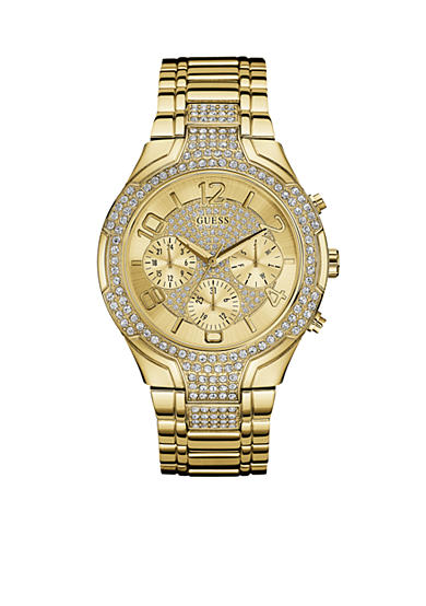 GUESS® Women's Gold-Tone Crystal Watch