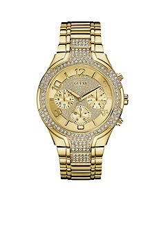 GUESS Women's Gold-Tone Crystal Watch