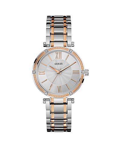 GUESS® Women's Two Tone And Crystal Dress Watch