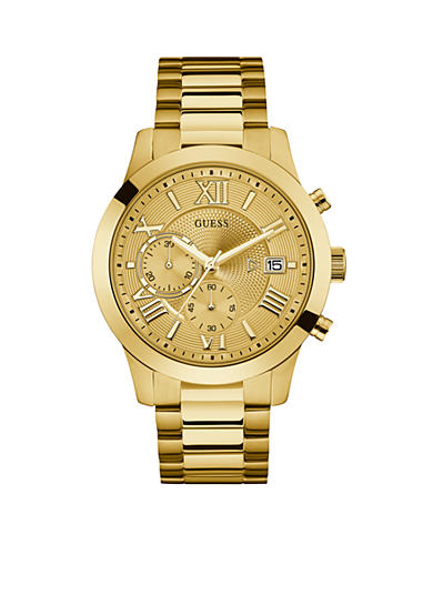 Guess Gold-Tone Chronograph Watch