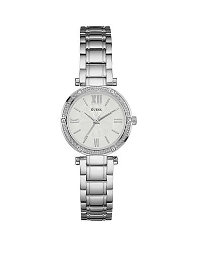GUESS® Women's Silver Petite Dress Watch