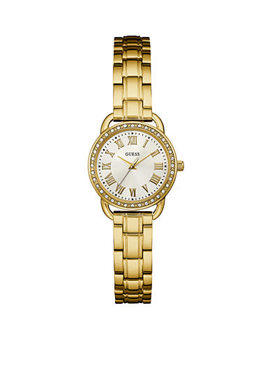 GUESS® Women's Gold-Tone Petite Classic Watch