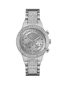 GUESS Steel And Crystal Multifunction Watch