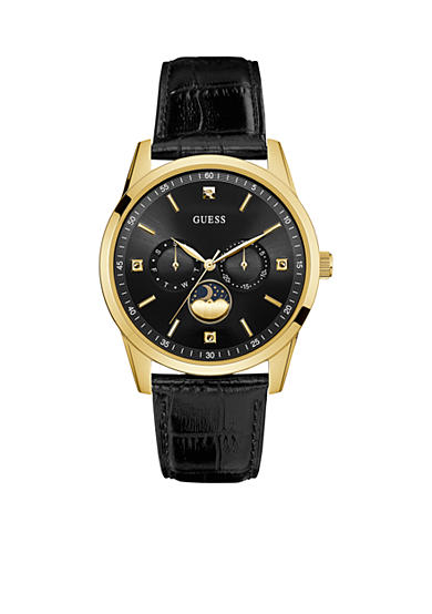 GUESS® Women's Gold-Tone Moon Phase Watch
