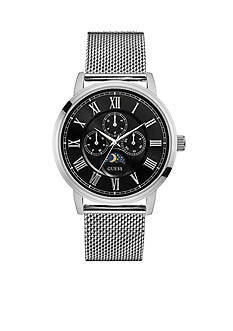 GUESS Stainless Steel Guess Mesh Multifunction Watch