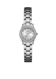 GUESS Silver-Tone Guess Petite Sparkle Watch