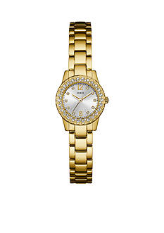 GUESS Gold-Tone And Crystal Petite Analog Watch
