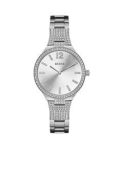 GUESS Women's Silver-Tone Watch