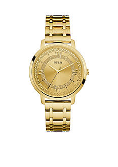 GUESS Women's Gold-Tone Bracelet Watch