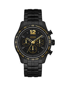 GUESS® Men's Black Ionic Plated Steel Chronograph Watch
