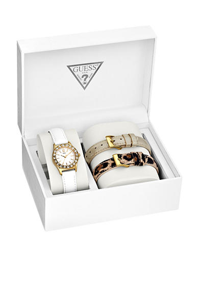 GUESS® Women's Interchangeable Gold Tone Strap Set