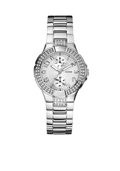 GUESS Women's Silver Tone Multi-Function Watch