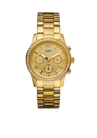 GUESS® Women's Chronograph Gold-Tone Watch With Crystals