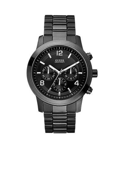 GUESS® Men's Ionic Black Plated Chronograph Watch