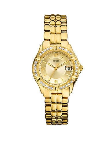 GUESS Women's Gold tone Sporty Mid-Size Watch