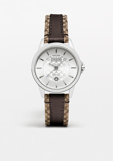 COACH CLASSIC SIGNATURE STRAP WATCH<br>