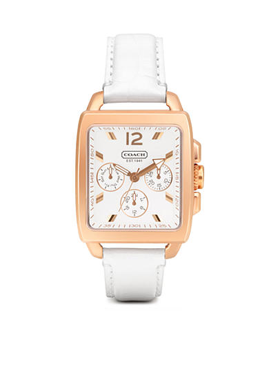 COACH BOYFRIEND SQUARE STRAP WATCH
