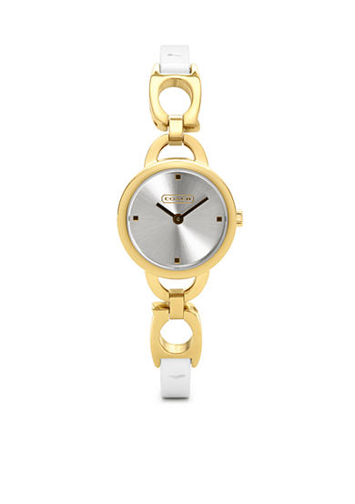 COACH GOLD PLATED STRAP WATCH