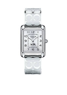 COACH PAGE STAINLESS STEEL BANGLE WATCH