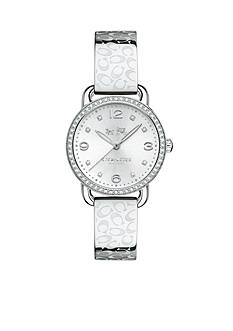 COACH DELANCEY STAINLESS STEEL SIGNATURE C BANGLE WATCH