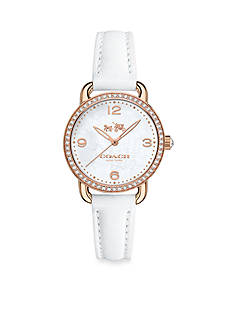 COACH WOMEN'S DELANCEY ROSE GOLD-PLATED CRYSTAL STRAP WATCH