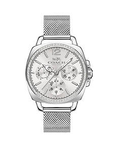 COACH Women's Boyfriend Small Stainless Steel Mesh Bracelet Watch