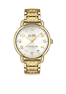 COACH WOMEN'S DELANCEY GOLD-PLATED BRACELET WATCH