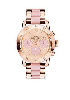 COACH Women's Legacy Sport Rose Gold-Plated Bracelet Watch