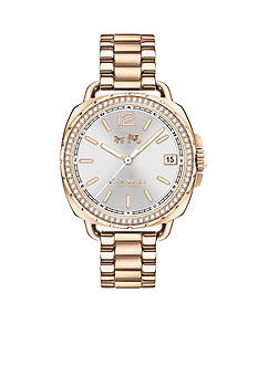 COACH Women's Tatum Carnation Gold-Tone Sunray Watch