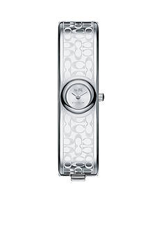 COACH Stainless Steel Sunray Dial Signature C Bangle Watch