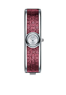 COACH Women's Scout Stainless Steel Sunray Dial Signature C Bangle Watch