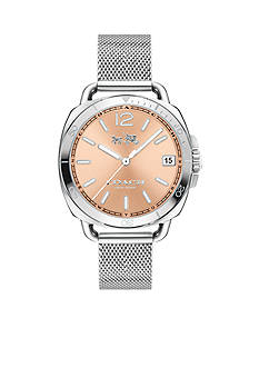 COACH Women's Tatum Stainless Steel Sunray Dial Mesh Bracelet Watch
