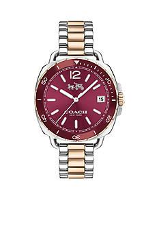 COACH Women's Tatum Two Tone Sunray Dial Bracelet Watch