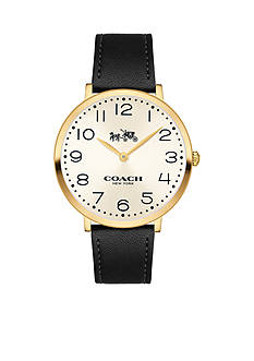 COACH Women's Slim Easton Gold Tone Strap Watch