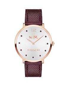 COACH Women's Slim Easton Carnation Gold Tone Sunray Dial Strap Watch
