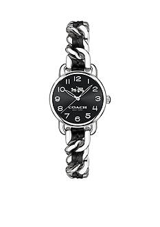 COACH Feminine Glam Delancey Silver-Toned Watch
