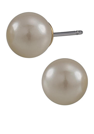 Carolee White Pearl Stud Earrings