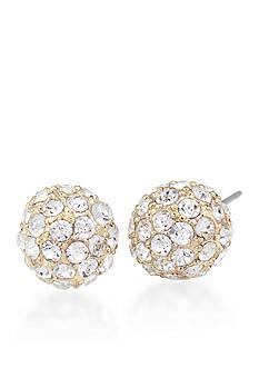 Carolee Gold-Tone Eva Crystal Stud Earrings